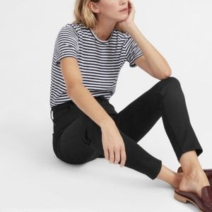 Everlane black wash mid rise ankle jean